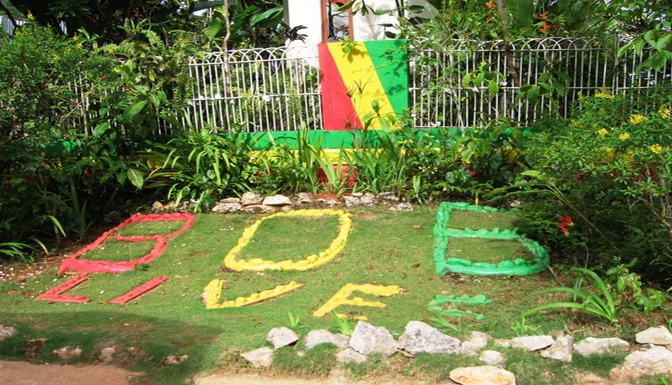 Pictures of For real Rastafarians, Bob never died in Bob Marley Mausoleum (Nine Mile)