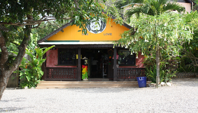 Photo Showing Entrance to the Bob Marley Mausolium