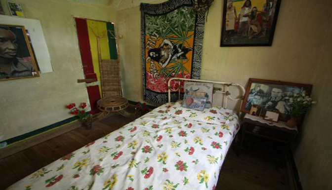 Photo showing  the Bed On Which Bob Marley Slept When He Was Young