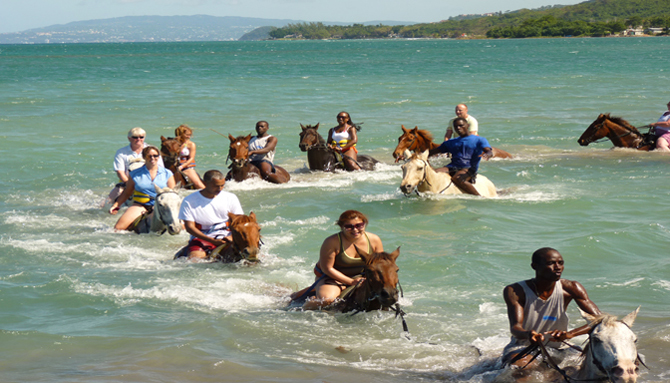 Enjoy With Friends On Horseback  Ride